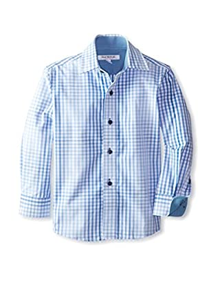 Isaac Mizrahi Boy's Faded Gingham Woven Shirt