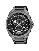Citizen Eco-Drive AT2155-58E Black Round Dial Chronograph Men Watch
