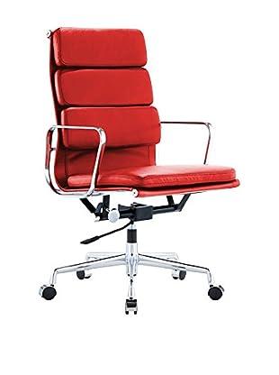 Silla Soft Emes Premium Piel Rojo