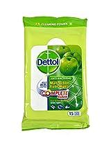 Dettol Floor Wipes Green Apple - 15 Count