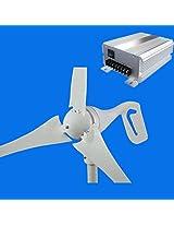 GTSUN 600W DC 24V Wind Turbine Generator 3 Blades Carbon Fiber With Wind Solar Hybrid Charge Controller,New