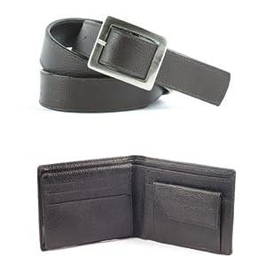 Fidato Leather Wallet + Men Belt