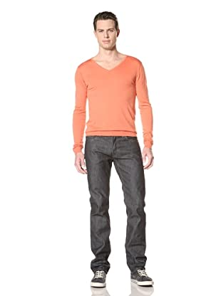Scotch & Soda Men's Basic Merino V-Neck Pullover (Pink)
