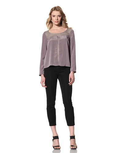 Twinkle by Wenlan Women's Mother Nature Blouse (Aurora Iron/Dotted)
