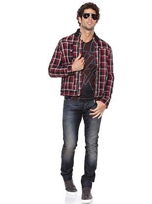 Pepe Jeans Jacke Maroon (Rot/Schwarz/Weiß)