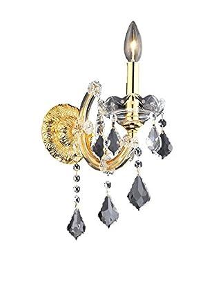 Crystal Lighting Maria Theresa 1-Light Wall Sconce, Gold