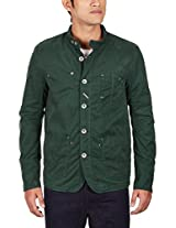 United Colors of Benetton Men's Cotton Jacket (8903975038271_15A2FS1C7030I11Z48_medium_Forest Green)