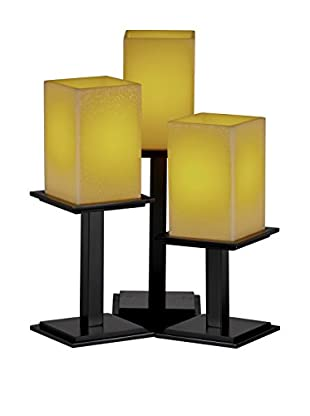 Justice Design Candle Aria 3-Light Montana Table Lamp, Matte Black