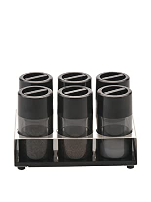 BergHOFF Cubo 7-Piece Condiment Set, Black