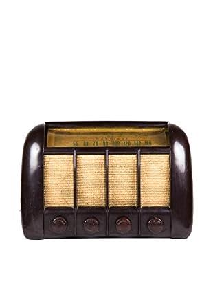 1930s Vintage Radio, Brown/Gold