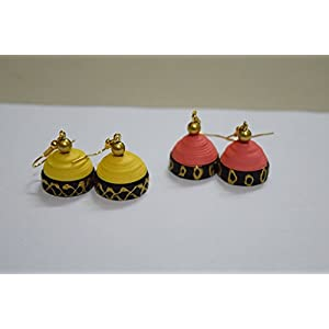 Quillings by SSE - Combo Of 2 Pretty Jumkas Earring