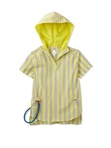 kicokids Boy's Hybrid Henley Hoodie-Shirt with Sailor Rope Key Ring (Citrus)