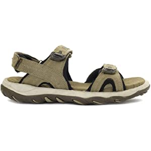 Woodland Leather Casual Sandals Khaki WDL0041
