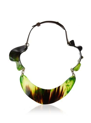 MARNI Women's Emerald Green Vibrant Bib Necklace