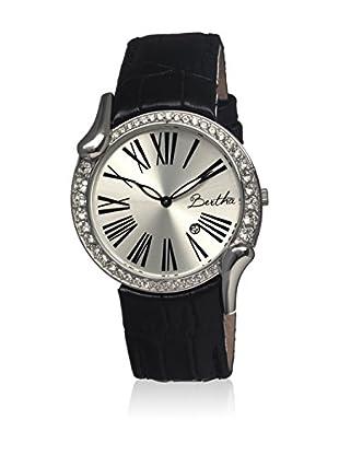 Bertha Uhr mit Japanischem Quarzuhrwerk Olive schwarz 38 mm