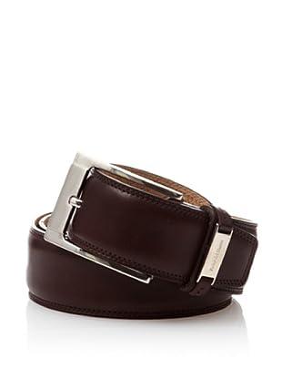 Pedro del Hierro Cinturón Vestir Liso Clásico (Marrón Oscuro)