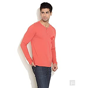 Vibrant Henley With Pocket