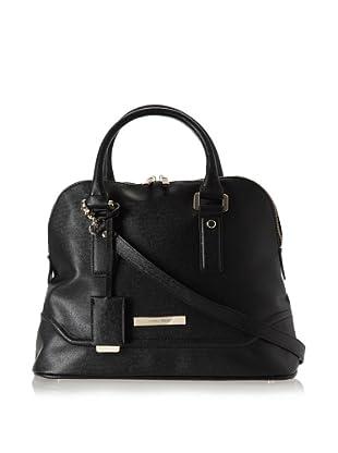 Ivanka Trump Women's Ava Saffiano Dome Satchel Top Handle Bag (Black)