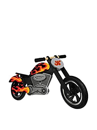 Kiddimoto Laufrad Chopper Flames schwarz/orange