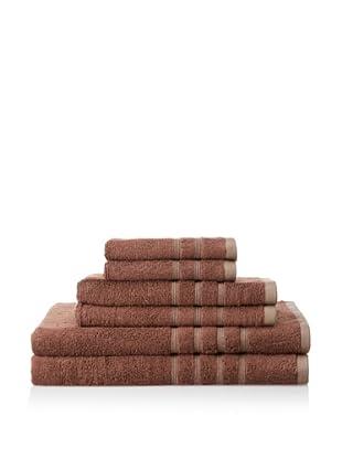 Pure Fiber 6-Piece Viscose from Bamboo Bath Towel Set, Chocolate