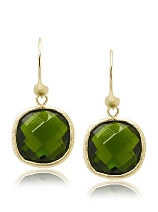 Rivka Friedman Peridot Crystal Dangle Earrings