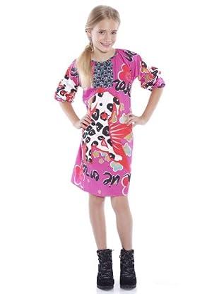 Custo Vestido Mukanday dálmata (fucsia)