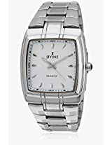 Ad 2060-Wt01 Silver/White Analog Watch Dvine