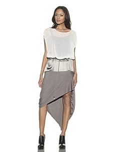 Preen Line Women's Serpent Draped Skirt (Sage)