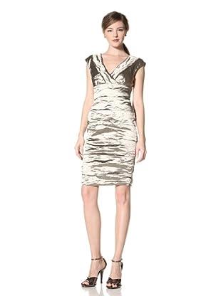 Nicole Miller Women's Techno Metal Dress (Cava)