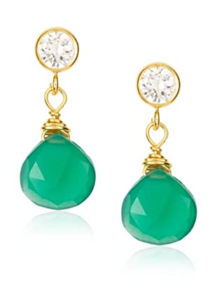 Amanda Rudey Laylie Green Onyx Earrings