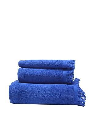 Carlos Luna Juego de Toallas Flecos (Azul)