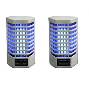 Saleshop365 Set Of 2 Electric Fly / Mosquito Killer Cum Night Lamp