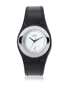 Hermès Men's Watch with Inset Bezel (Black)