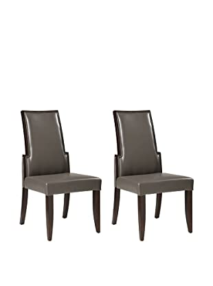 Sunpan Set of 2 Lafayette Chairs, Grey