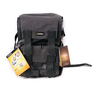 National Geographic NG W5071 Walkabout Medium Rucksack for DSLR Style with 15.4-Inch Laptop/Personal Gear (Gray)