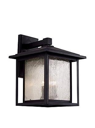 Bel Air Lighting 3-Light Wall Lantern, Black