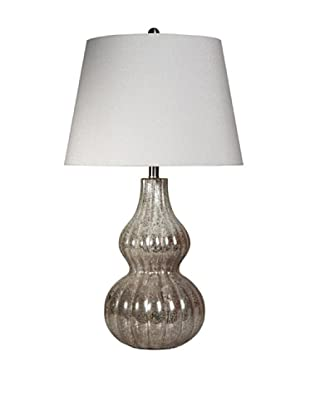 StyleCraft Glass Table Lamp, Winter Ice