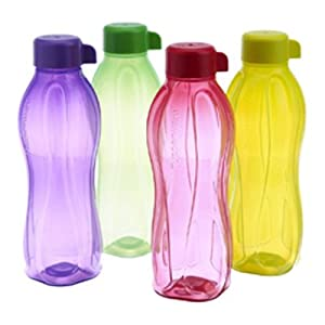 Tupperware Aquasafe Water Bottle 1Ltr Set Of 4 Pcs