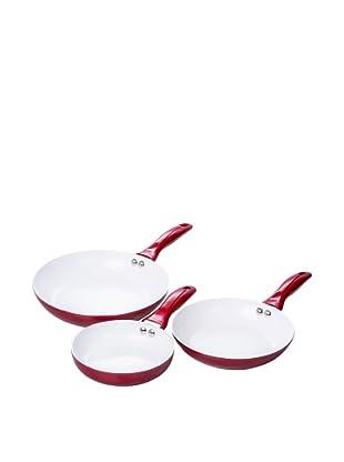 Santa Clara Sartenes Cerámicas 16, 20 Y 24cm, ECO, Color Rojo
