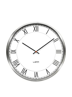 Leff Amsterdam Stainless Steel Roman Clock (White)