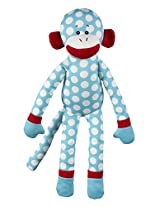 "Ganz 18"" in Stitches Monkey Plush, Blue and White"