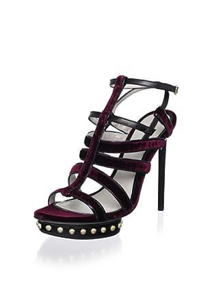 Jason Wu Women's Egrette Vel Platform Sandal (Burgundy/Black)
