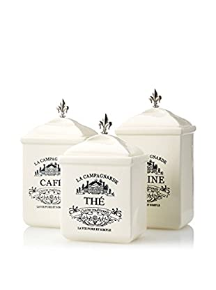American Atelier Maison 3 Piece Canister Set, White