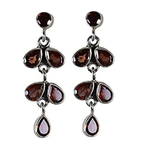 Pearl Paradise Silver Earring With Garnet
