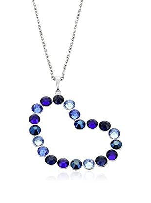 Crystal from Swarovski Collar Heart Rivoli Metal Plateado