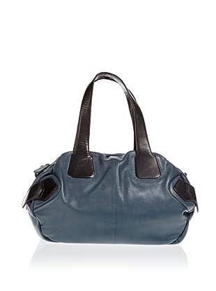 Borella Leder Bowling-Bag (Dunkelblau/Schwarz)