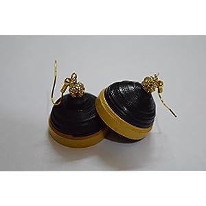 Quillings by SSE - Beautiful Black Jumka Earring