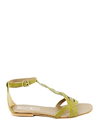 Eye Shoes Sandalias Trenza (Verde Oliva)