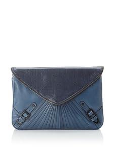 Rebecca Minkoff Women's Maria Envelope Convertible Clutch, Blue/Grey