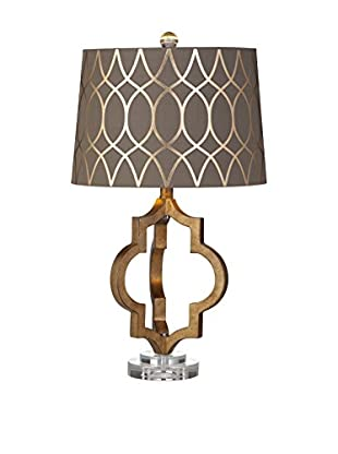 Bassett Mirror Company Coburg 1-Light Table Lamp, Gold Leaf